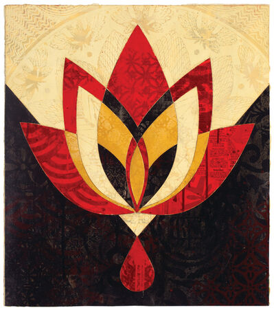 Shepard Fairey, 'Bleeding Lotus, Version 1', 2018