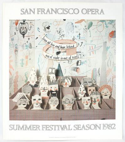 David Hockney, 'San Francisco Opera 1982 (Detail from Bedlam from The Rake's Progress 1975) ', 1982