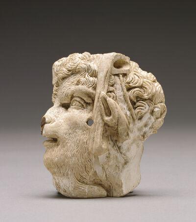 'Applique depicting the head of pan', ca. 100 BCE