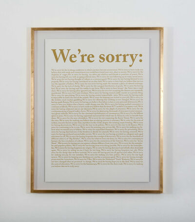 "Danilo Correale, '""National Anatema (We're Sorry)""', 2012"