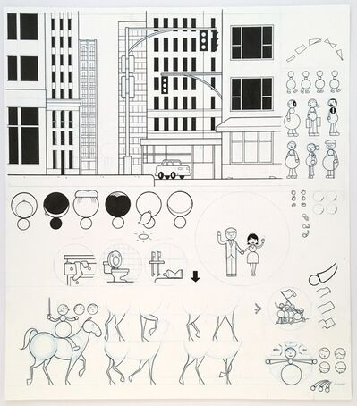 Chris Ware, 'Animation drawing for This American Life ', 2001