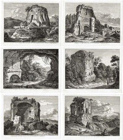 Johann Christian Reinhart, 'Six Vues d'Italie avec ruins des tombeaux – Die römischen Grabmäler – The Roman Tombs', 1792