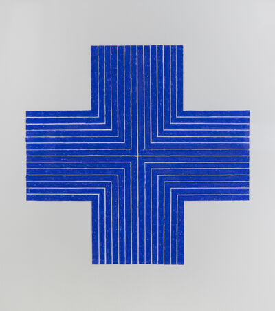 John Zinsser, 'After Frank Stella, Ourway, 1960-1961 (Blue Version)', 2011