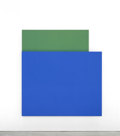 Ellsworth Kelly, 'Blue Relief over Green', 2004