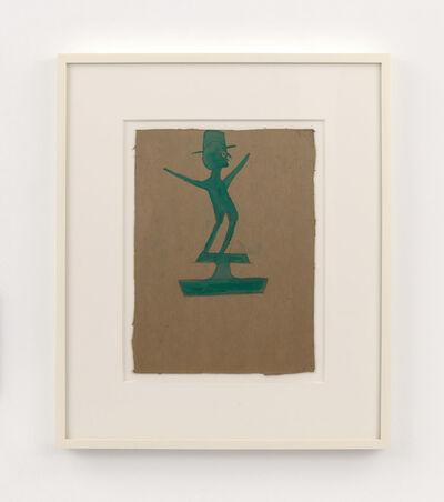 Bill Traylor, 'Green Man atop Construction', 1939-1942