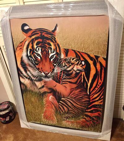 Mikhail Chapiro, 'Motherhood-Tigers - Original Mix Media by Mikhail Chapiro', 2009