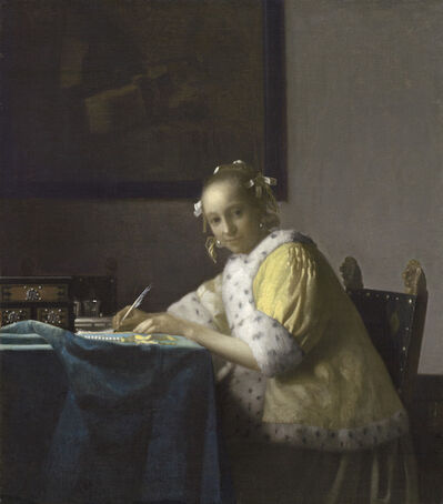 Johannes Vermeer, 'A Lady Writing', ca. 1665