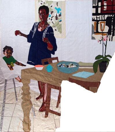 Billie Zangewa, 'mother and child', 2015