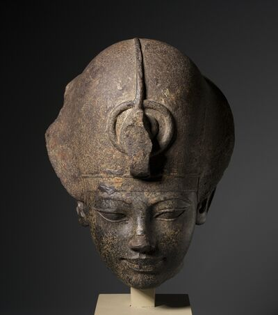 Egypt, New Kingdom, Dynasty 18, reign of Amenhotep III, 'Head of Amenhotep III Wearing the Blue Crown', c. 1391-1353 BC