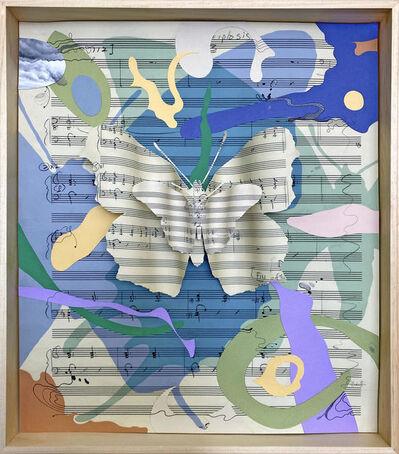 """Erika Harrsch, 'Hue Variations inside Glass, M-3-4-1 Blue-Green"""" (After Kafka, Glass and Turrell)', 2020"""