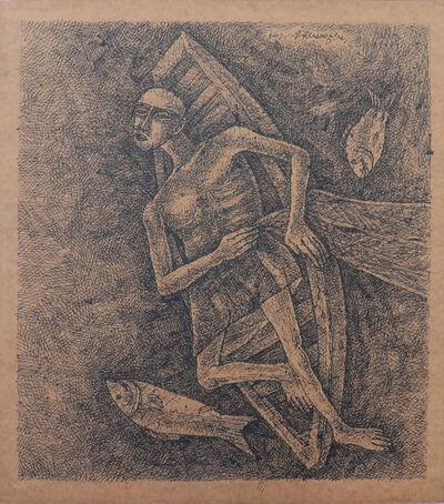 Ganesh Pyne, 'The Fisherman', 1977