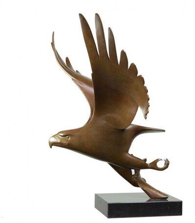 Evert den Hartog, 'Bird of Prey, with fish no. 1 (Roofvogel met vis no.1)'