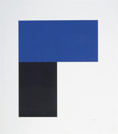 Ellsworth Kelly, 'Blue and Black I', 1972