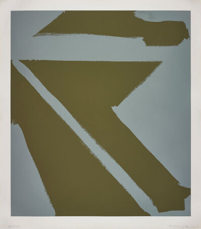 Blinky Palermo, 'Oliv/Silber (Olive/Silver)', 1971