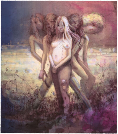 Lisa Yuskavage, 'Hippies in Tit Heaven', 2015