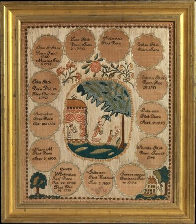 Julia Ann Fitch, 'Embroidered sampler', 1807
