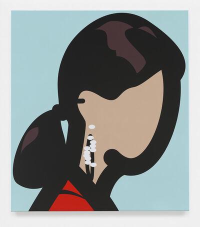 Julian Opie, 'Woman with hoop earrings.', 2015