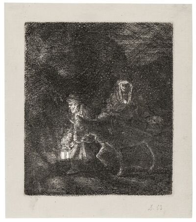 Rembrandt van Rijn, 'The Flight into Egypt: a Night Piece', 1651