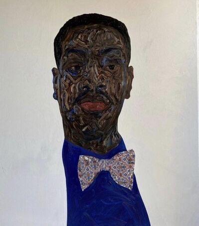 Amoako Boafo, 'Royal Blue Vest', 2020