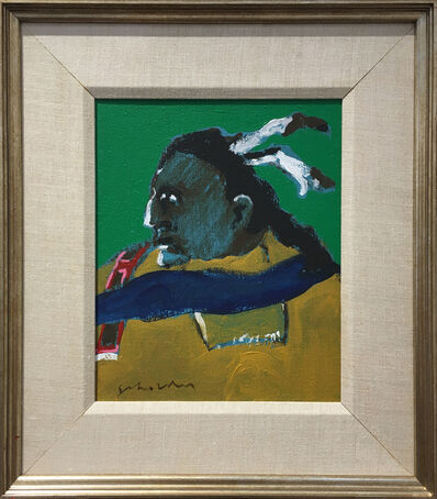 Fritz Scholder, 'Indian with Beaded Shoulder', 1975