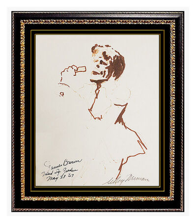 LeRoy Neiman, 'LeRoy Neiman Original Drawing Color Ink Signed Artwork James Brown Painting SBO', 20th Century
