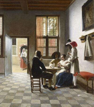 Pieter de Hooch, 'Card Players in a Sunlit Room', 1658