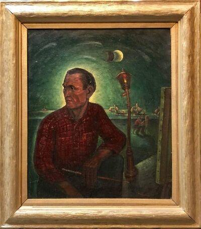 Maurice Kish, 'Paris City Scene, Portrait Oil Painting WPA Era 1940s', Mid-20th Century