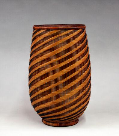 Kajiwara Aya, 'Spiral Pattern Flower Basket', 2014