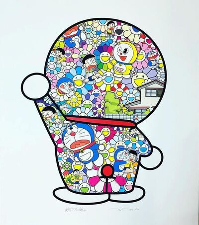 Takashi Murakami, 'Doraemon in the Field of Flowers', 2019