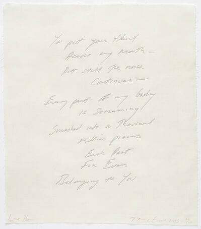 Tracey Emin, 'Love Poem', 2013