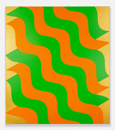 Mohamed Melehi, 'Moucharabieh, Green and Orange', 2020