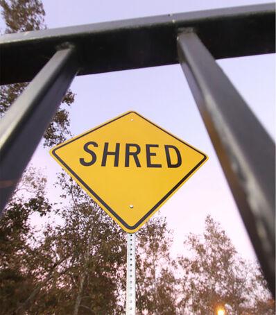 """Scott Froschauer, '""""Shred"""" - Contemporary Street Sign Sculpture', 2017"""