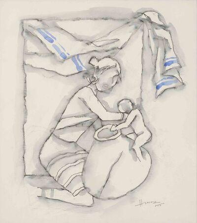 M. F. Husain, 'Mother & Child by M.F. Hussain, Great Indian Artist, Padma Shree, Padma Bhushan awardee', 2005