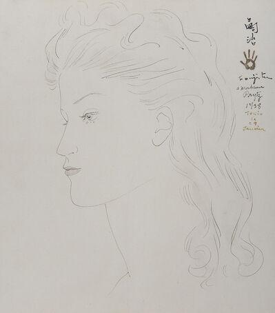 Léonard Tsugouharu Foujita, 'Portrait de jeune femme blonde', 1938