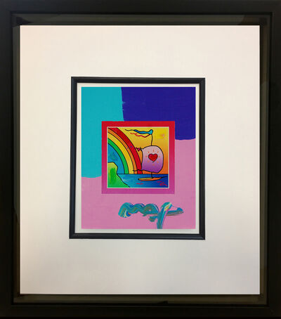Peter Max, 'Sailboat with Heart on Blends 2007 #796', 2007