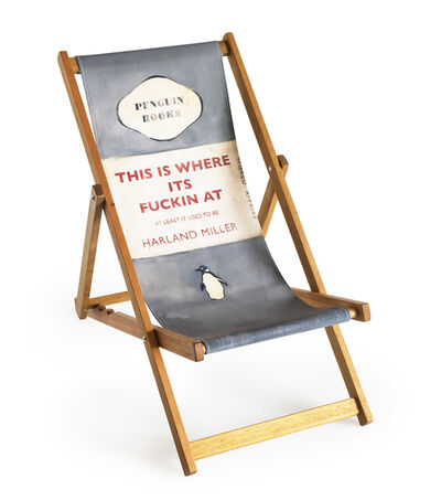 Harland Miller, 'This is Where It's Fucking At (Deck Chair)', 2013