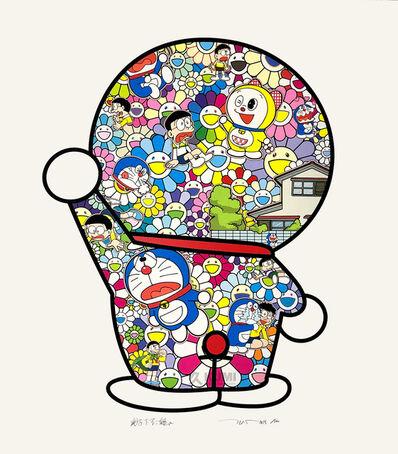 Takashi Murakami, 'Takashi Murakami x Doraemon: Doraemon in the Field of Flowers', 2019