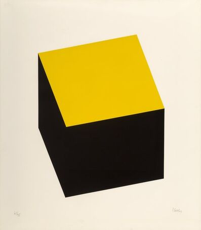 Ellsworth Kelly, 'Yellow/Black, from Series of Ten Lithographs', 1970