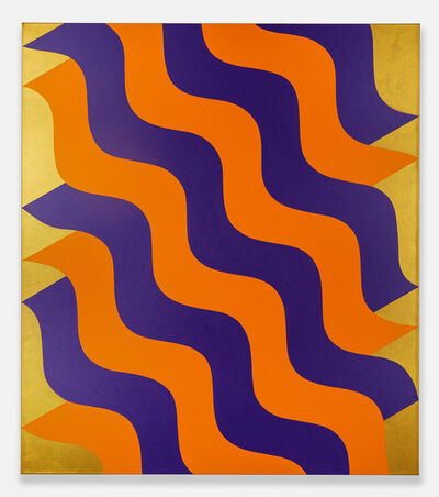 Mohamed Melehi, 'Moucharabieh, Purple and Orange', 2020
