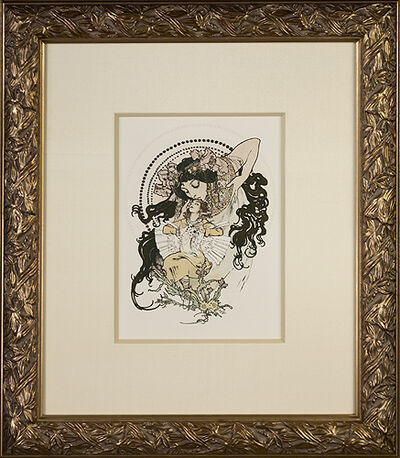 """Alphonse Mucha, 'From: Ilsée, Princesse de Tripoli """"Ilsee and Jaufre""""', 1897"""