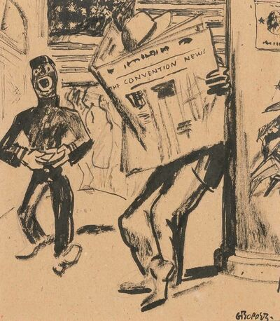 William Gropper, 'Convention News: Third Day, a Delegate'