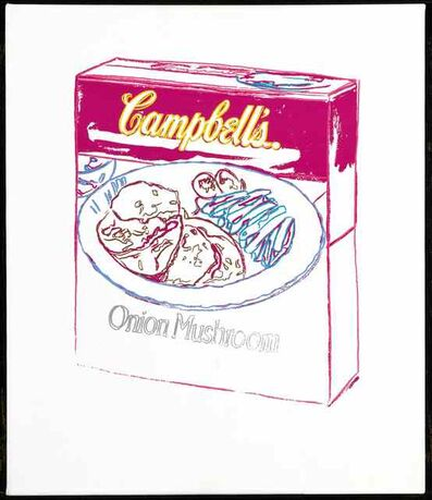 Andy Warhol, 'Campbell's Soup Box: Onion Mushroom by Andy Warhol', 1986