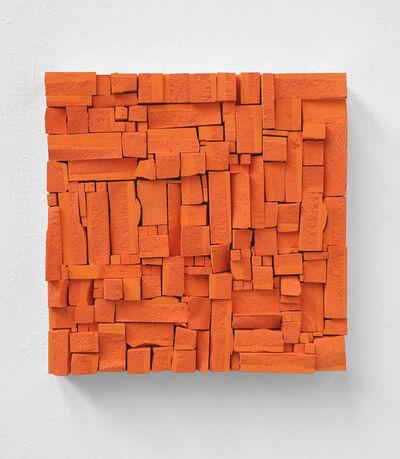 Reiner Seliger, 'Kreidebild Broken Orange', 2019