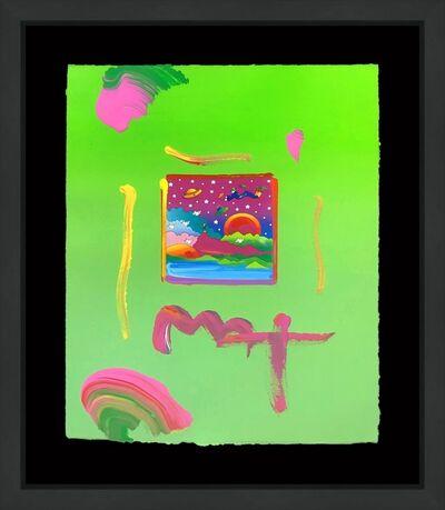 Peter Max, 'COSMIC SUNSET (OVERPAINT)', circa 2000