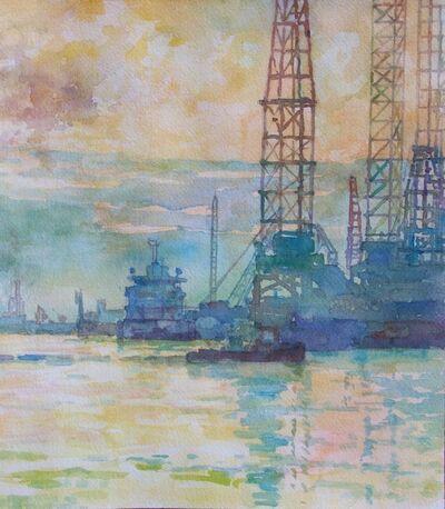 Derek Buckner, 'Shipping Cranes'