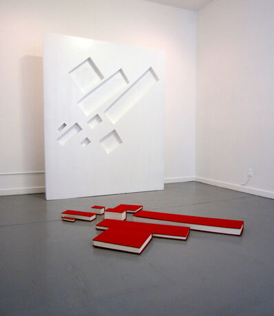 Buzz Spector, 'Malevich: With 8 Red Rectangles'