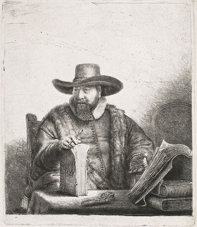 Rembrandt van Rijn, 'Cornelis Claesz Anslo, Preacher', 1641