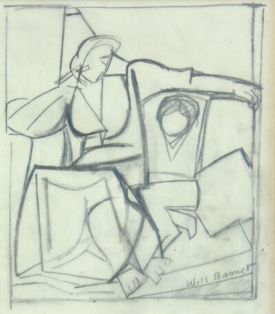 Will Barnet, 'Untitled (Mother and Child Study)', 1960