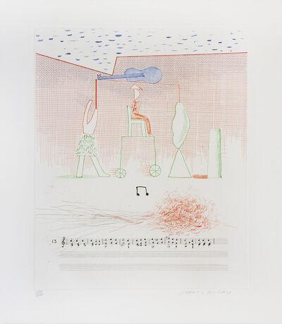 David Hockney, 'Parade, from The Blue Guitar portfolio', 1977