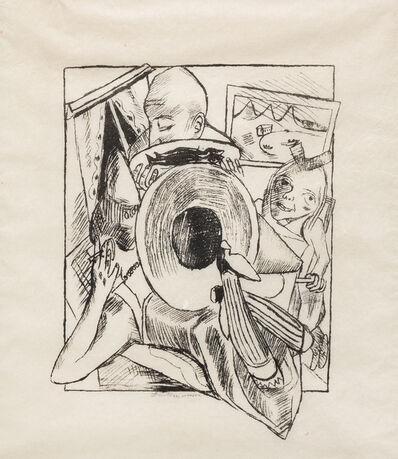 Max Beckmann, 'Möbliert, pl. 2 from Stadtnacht', 1920